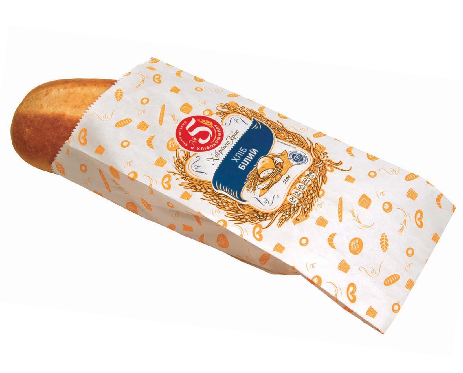 """""""Хліб Білий"""" паперова упаковка"""