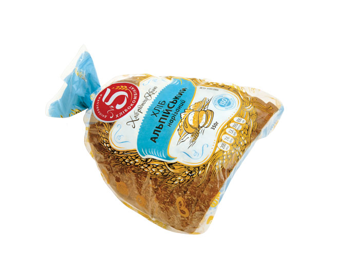 """Хліб """"Альпійський"""" половинка нарізаний в упаковці"""