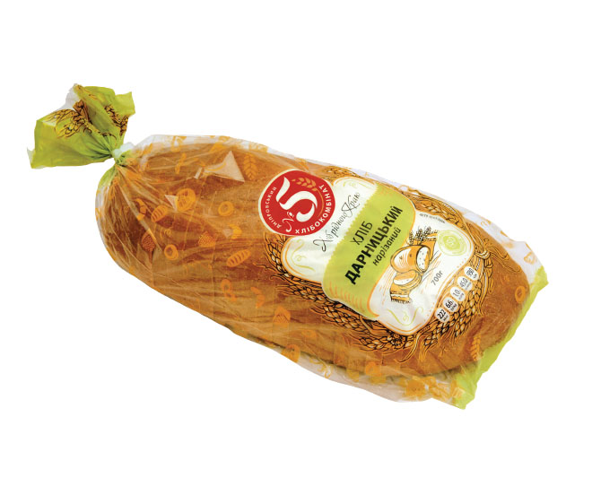 """Хліб """"Дарницький"""" подовий нарізаний в упаковці"""