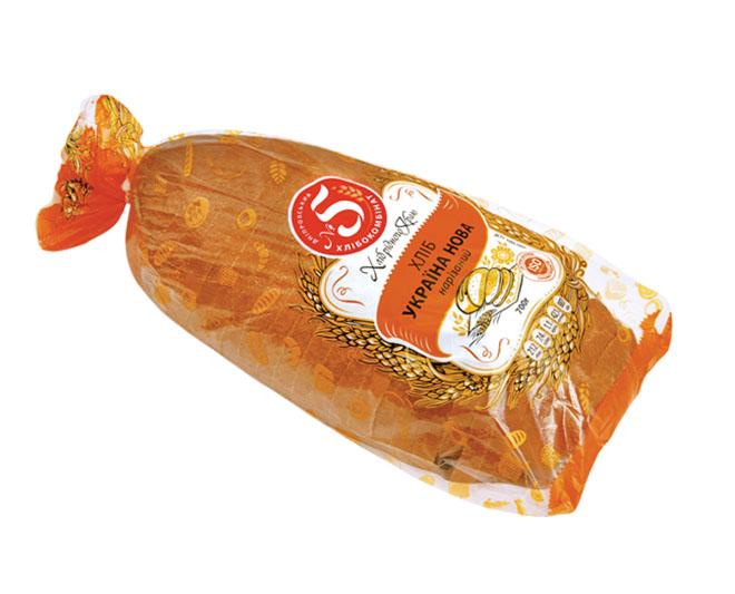 """Хліб """"Україна нова"""" нарізаний в упаковці"""