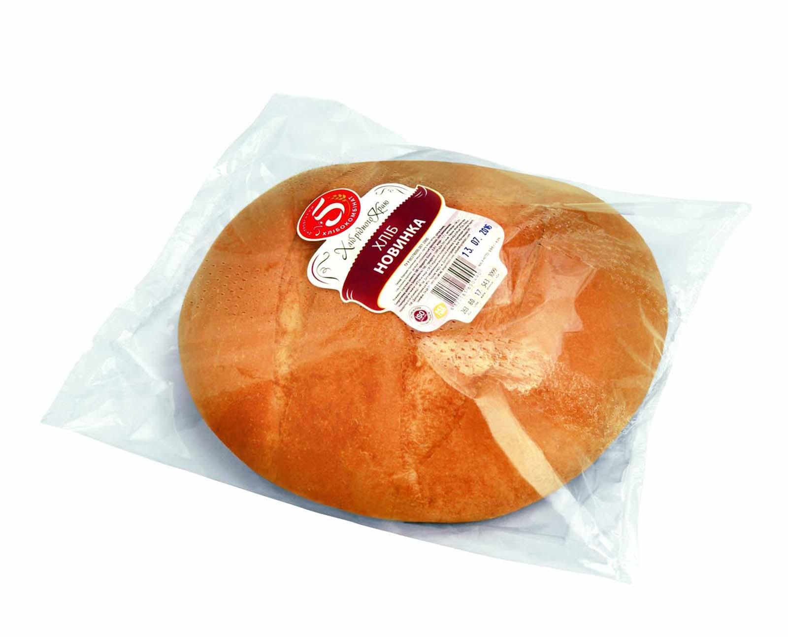 """Хліб """"Новинка"""" в упаковці"""