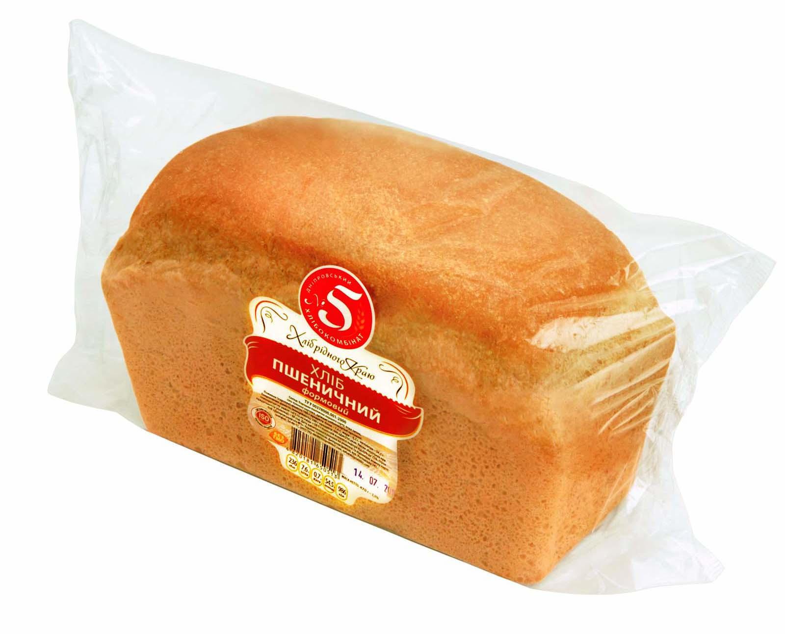 """Хліб """"Пшеничний"""" формовий в упаковці"""