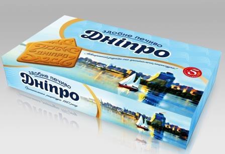 Зустрічайте наше печиво «Дніпро» у новій яскравій упаковці!